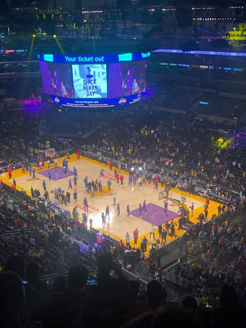 Seating view for Staples Center Section 331 Row 7 Seat 5