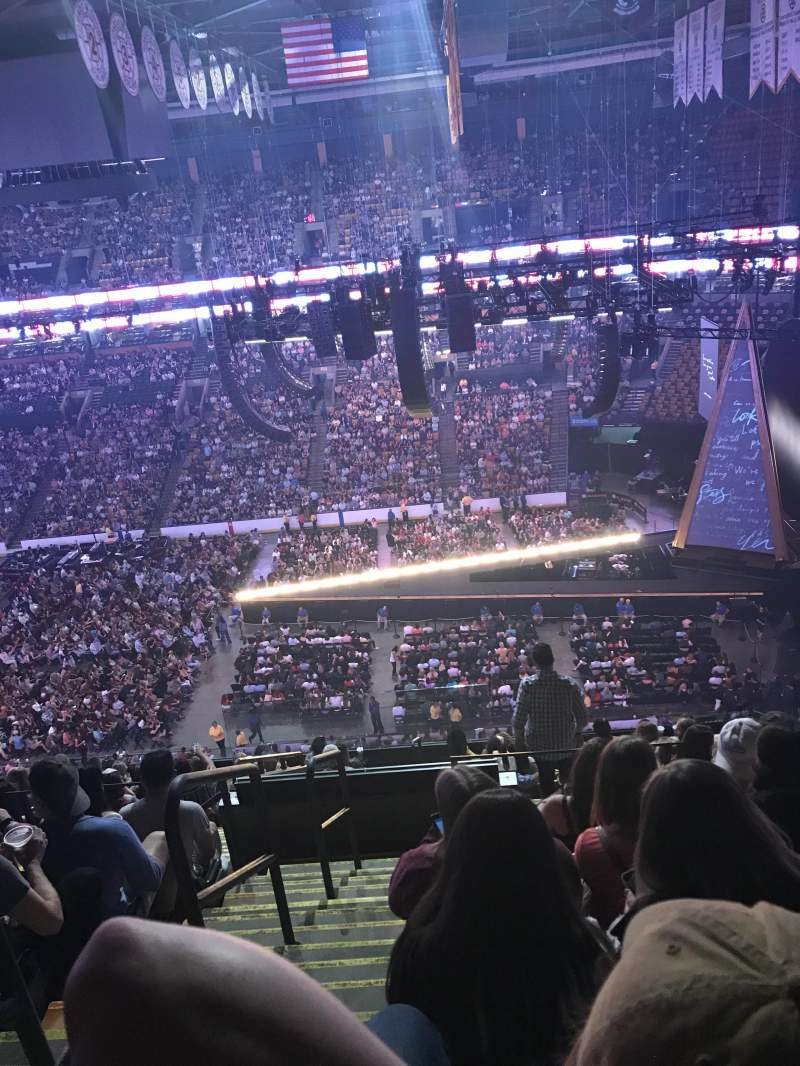 Seating view for TD Garden Section Bal 329 Row 13 Seat 20