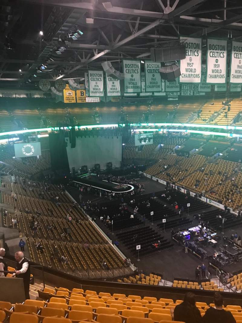 Seating view for TD Garden Section Bal 311 Row 11 Seat 12