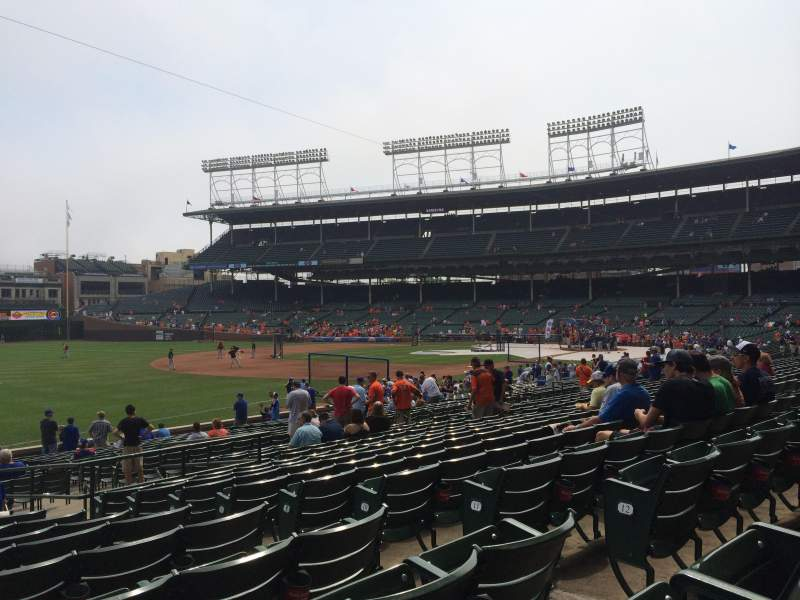 Seating view for Wrigley Field Section 106 Row 14 Seat 105