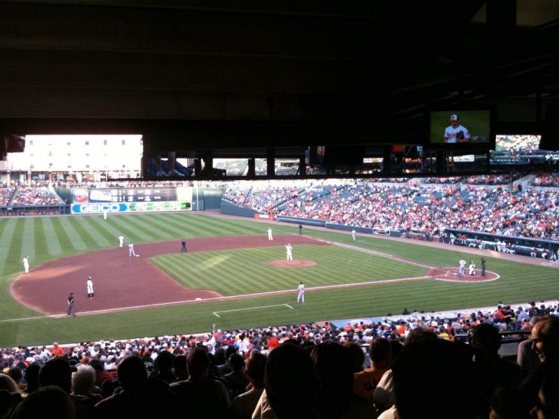 Seating view for Oriole Park at Camden Yards Section 55 Row 13 Seat 7