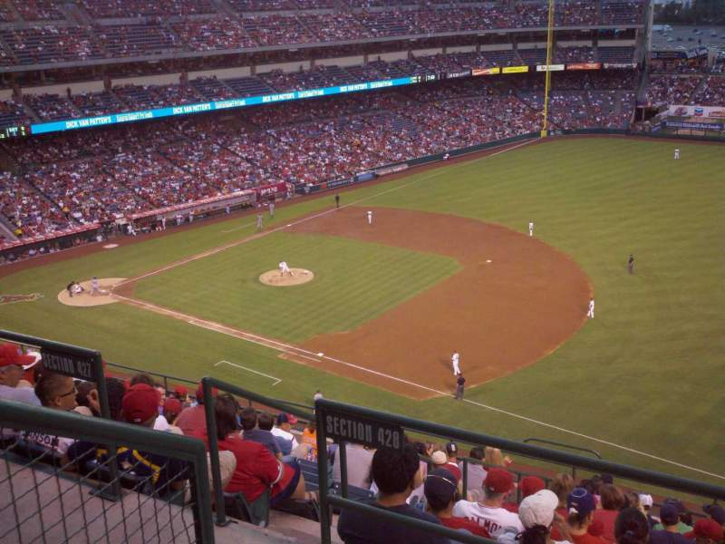 Seating view for Angel Stadium Section 428 Row B Seat 7