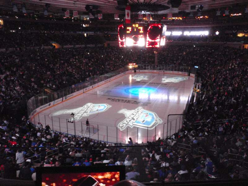 Seating view for Madison Square Garden Section 344 Row 2 Seat 10
