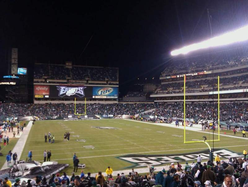 Seating view for Lincoln Financial Field Section 109 Row 12 Seat 7