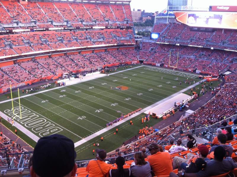 Seating view for FirstEnergy Stadium Section 527 Row 17 Seat 5and6