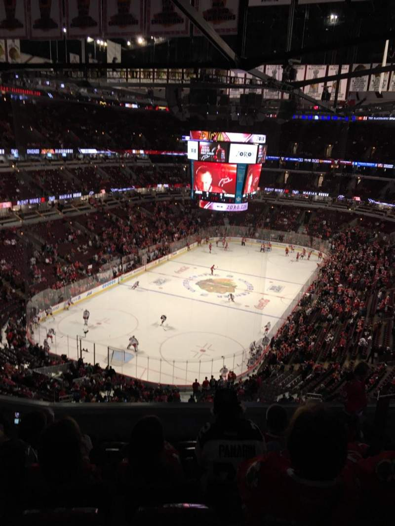 Seating view for United Center Section 324 Row 8 Seat 3