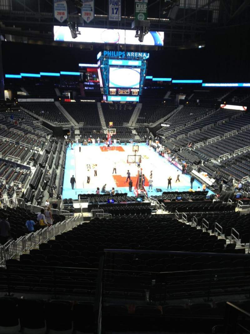 Seating view for Philips arena Section 220 Row E Seat 5