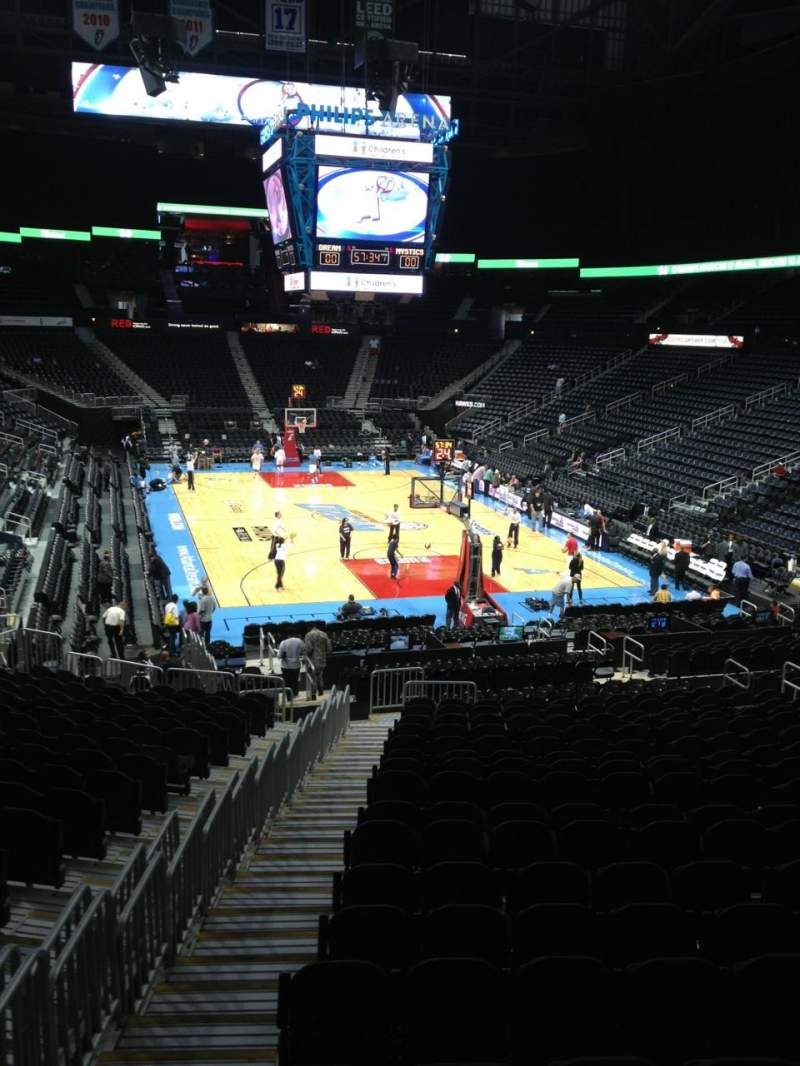 Seating view for Philips arena Section 121 Seat 19