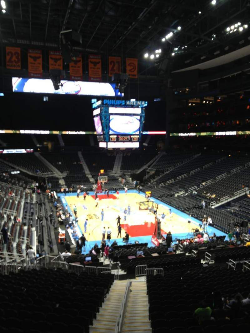 Seating view for Philips arena Section 206 Row C Seat 1