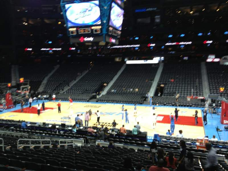 Seating view for Philips arena Section 114 Row U Seat 4