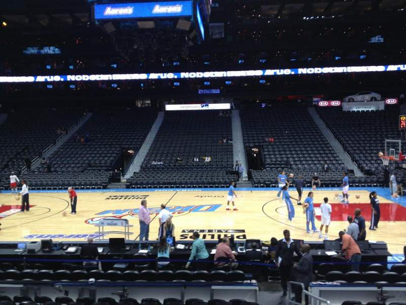 Seating view for Philips arena Section 115 Row L Seat 1
