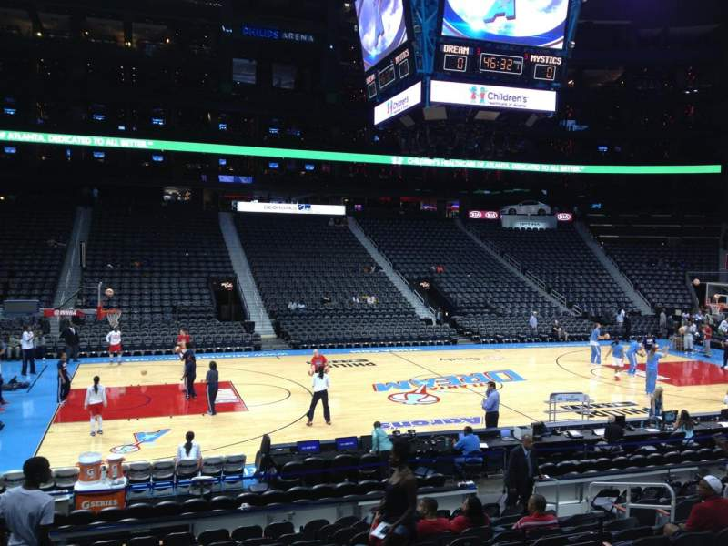 Seating view for Philips arena Section 116 Row P Seat 12