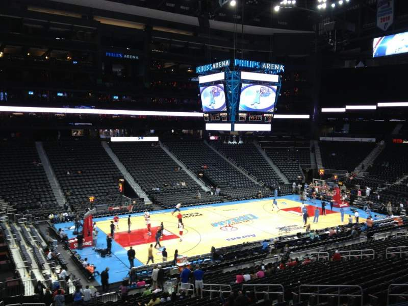 Seating view for Philips arena Section 214 Row B Seat 1