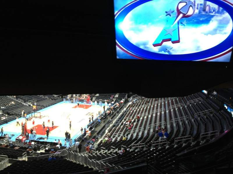 Seating view for Philips arena Section 216 Row J Seat 2
