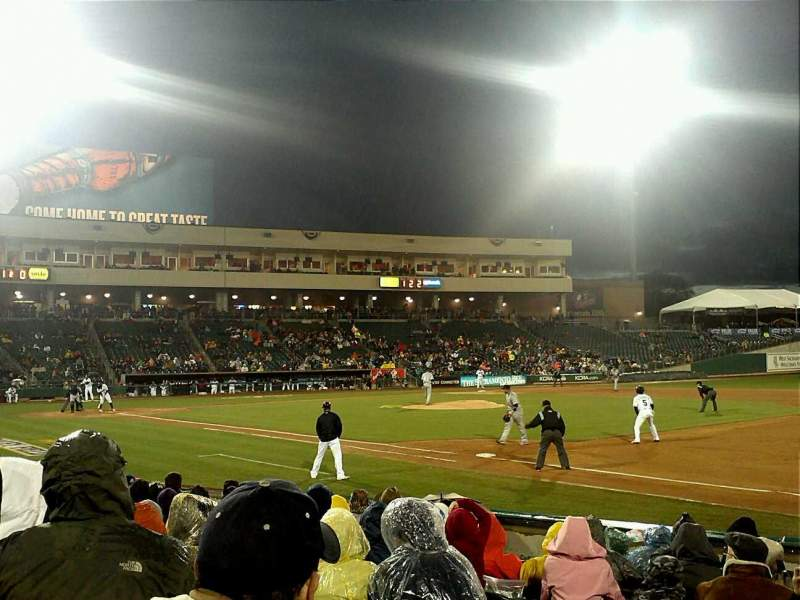 Seating view for Raley Field Section 104 Row 8 Seat 1