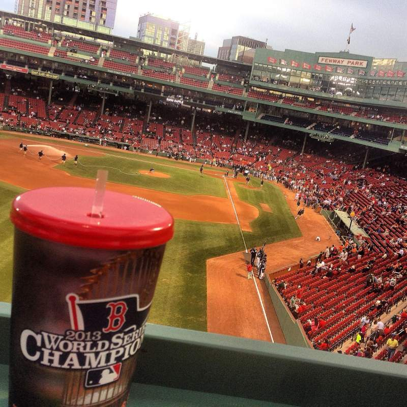 Fenway Park, section: Green Monster 2, row: 3, seat: 1