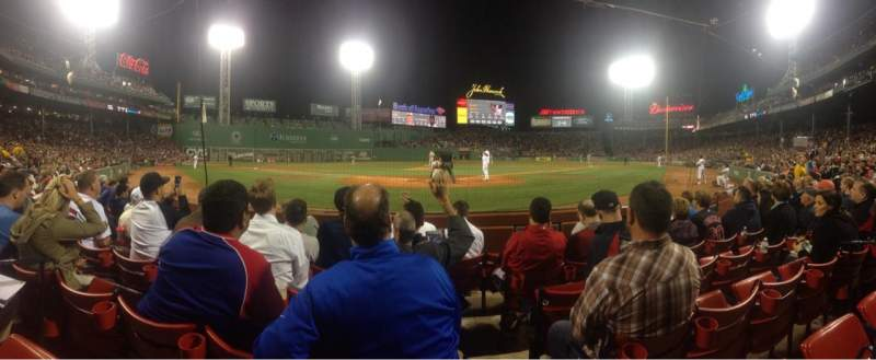 Seating view for Fenway Park Section Field Box 45 Row C Seat 1