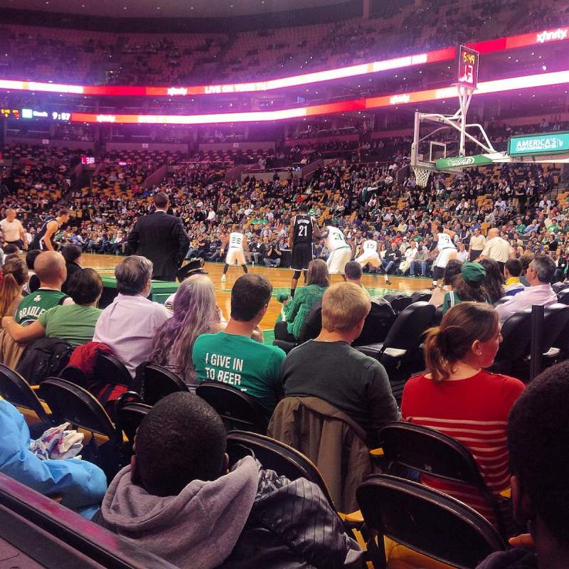 Seating view for TD Garden Section Loge 21 Row 1  Seat 1