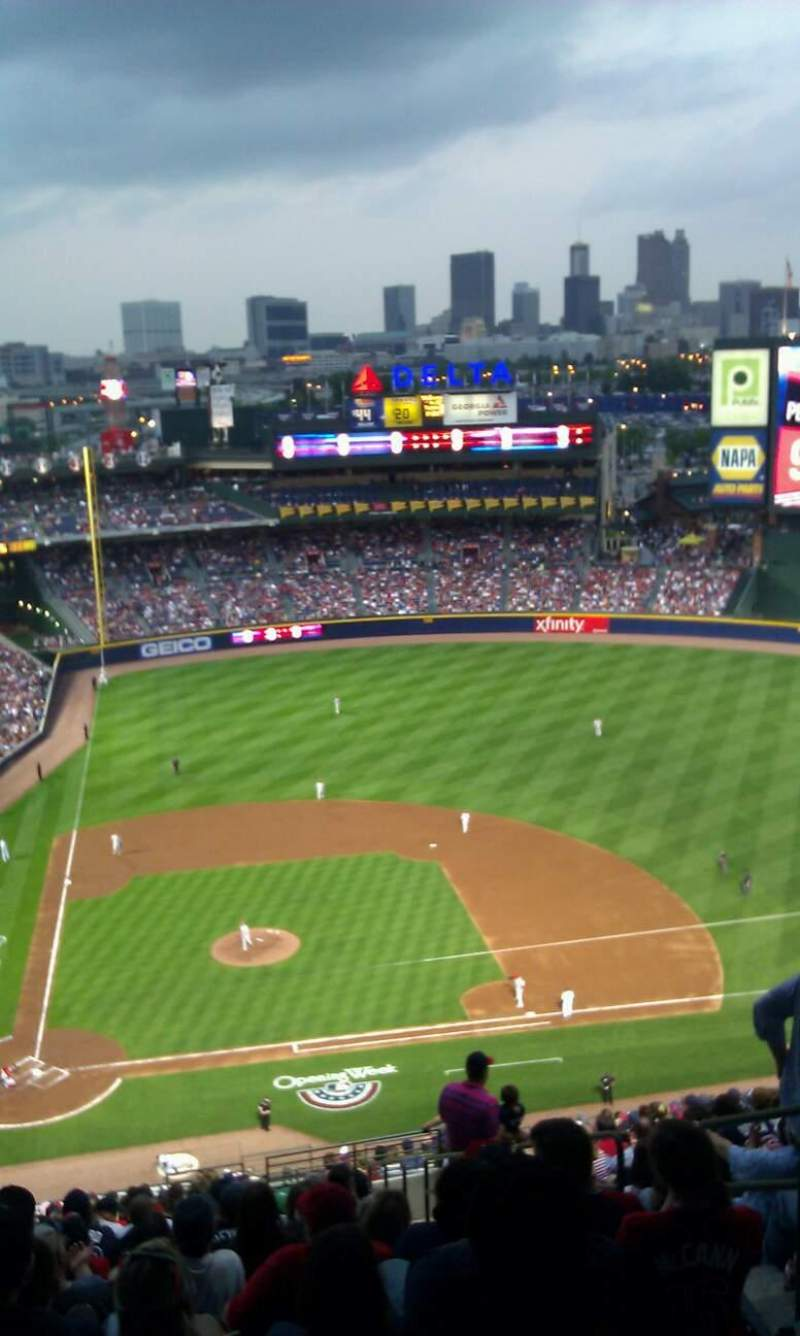 Seating view for Turner Field Section 409 Row 25 Seat 3