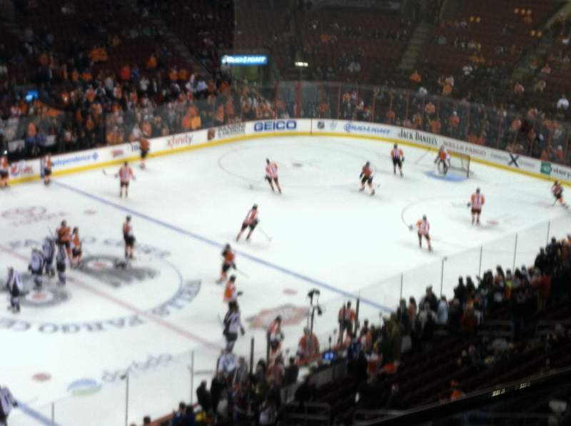 Seating view for Wells Fargo Center Section 211 Row 1 Seat 1