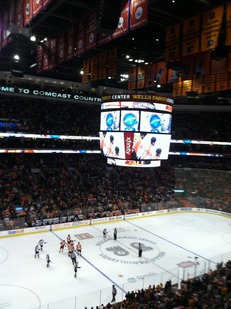 Seating view for Wells Fargo Center Section 211 Row 1 Seat 2