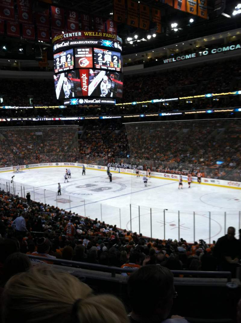 Seating view for Wells Fargo Center Section Club Box 16 Row 4 Seat 20