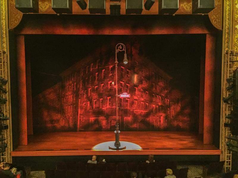 Longacre Theatre, section: Mezzanine, row: A, seat: 107