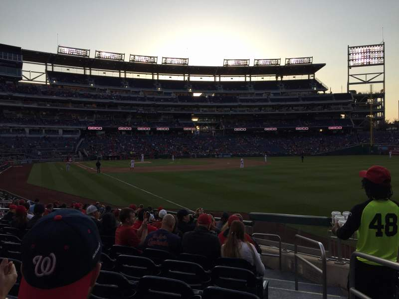 Seating view for Nationals Park Section 136 Row T Seat 1