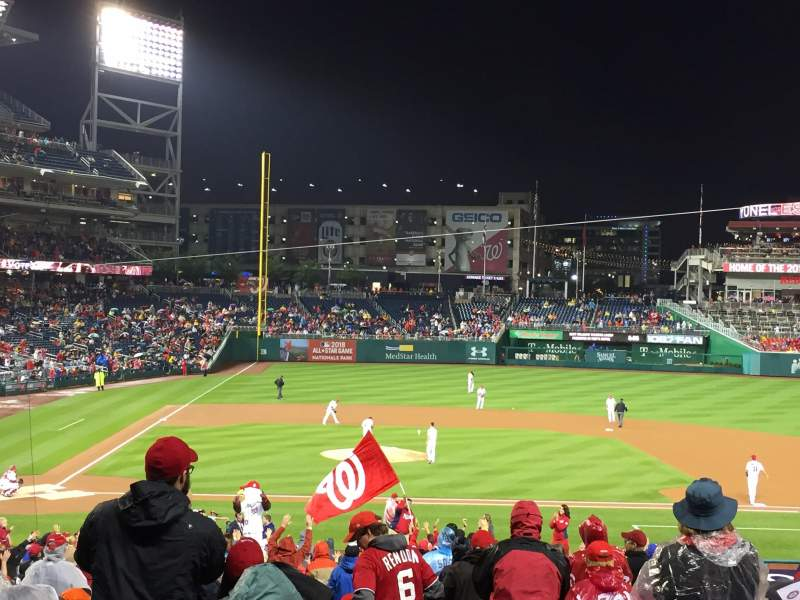 Seating view for Nationals Park Section 128 Row NN Seat 10