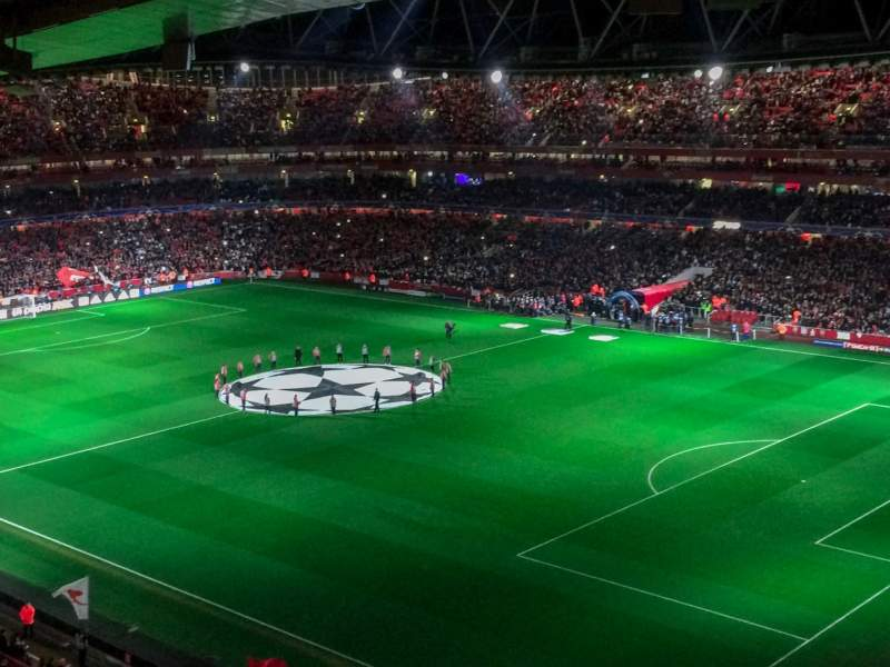 Seating view for Emirates Stadium Section 107 Row 17 Seat 455