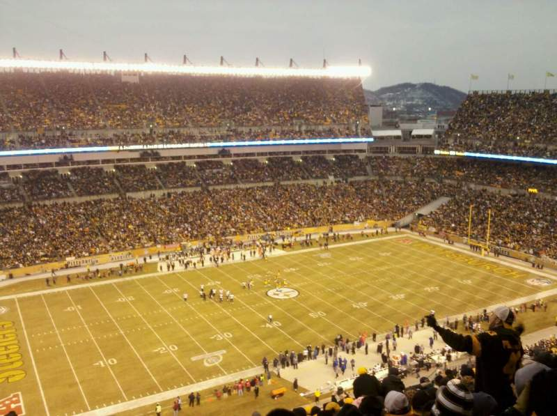 Seating view for Heinz Field Section 507 Row 28 Seat 20