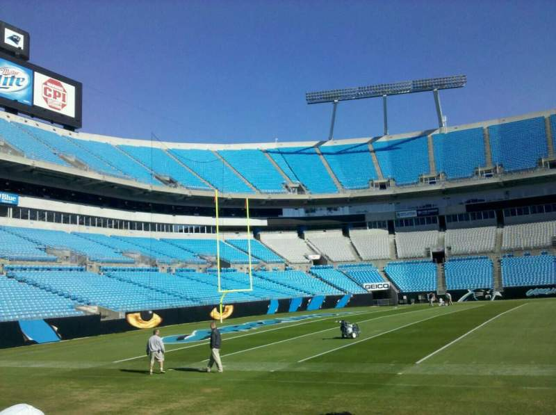 Seating view for Bank of America Stadium Section Field