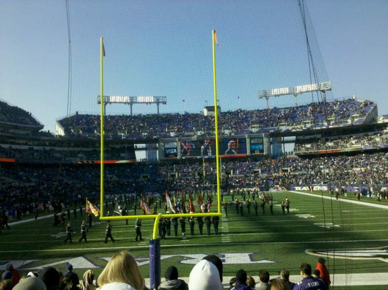 Seating view for M&T Bank Stadium Section 140 Row 6 Seat 7