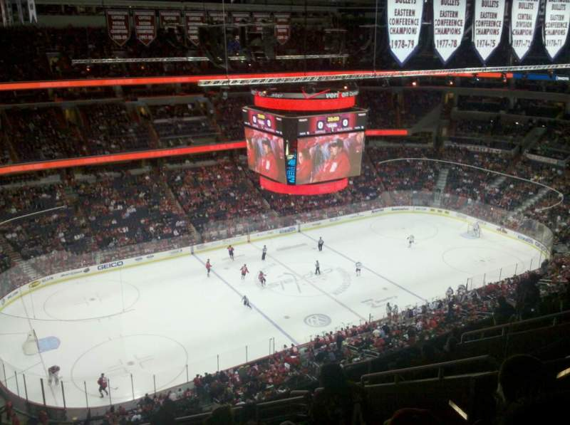 Seating view for Verizon Center Section 431 Row L Seat 13