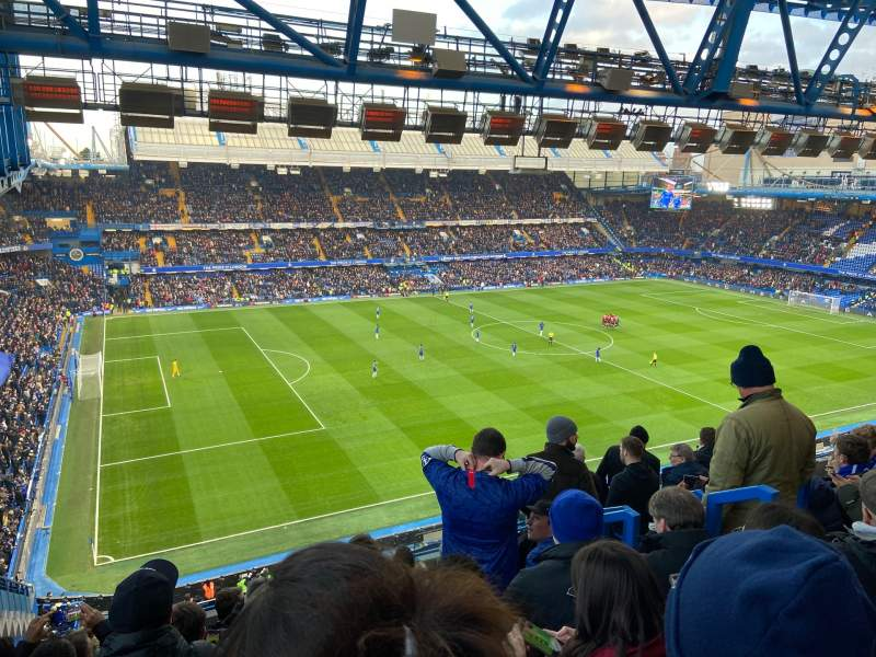 Seating view for Stamford Bridge Section West Stand Upper 8 Row 8 Seat 213
