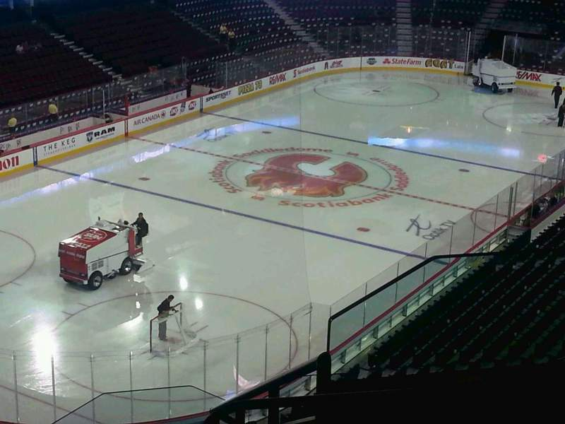 Seating view for Scotiabank Saddledome Section 223 Row 20 Seat 19