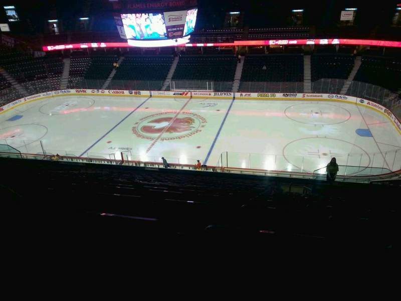 Seating view for Scotiabank Saddledome Section 213 Row 20 Seat 20