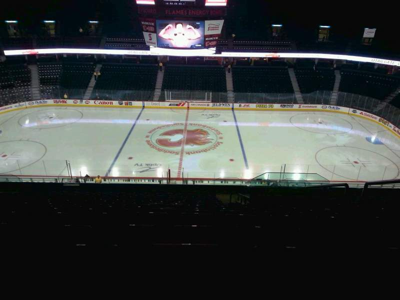 Seating view for Scotiabank Saddledome Section 212 Row 20 Seat 20