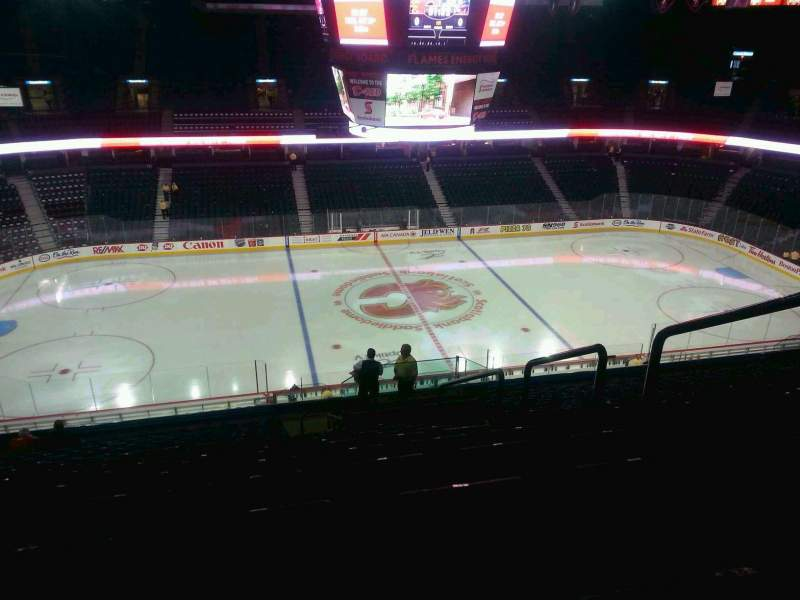 Seating view for Scotiabank Saddledome Section 211 Row 20 Seat 20