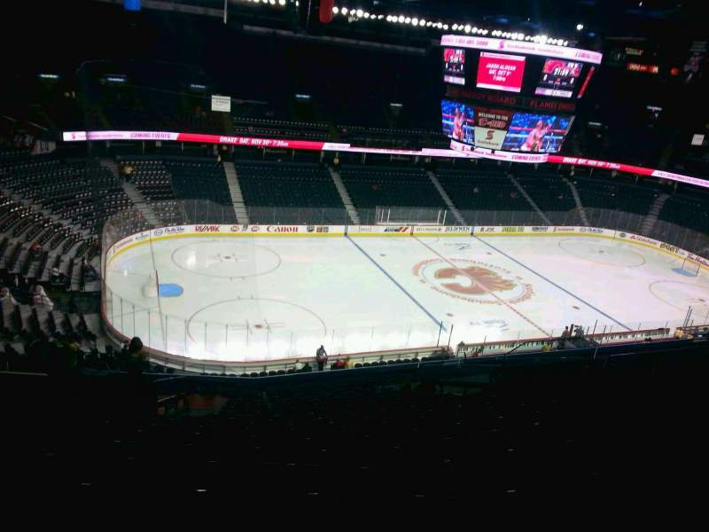 Seating view for Scotiabank Saddledome Section 210 Row 20 Seat 20