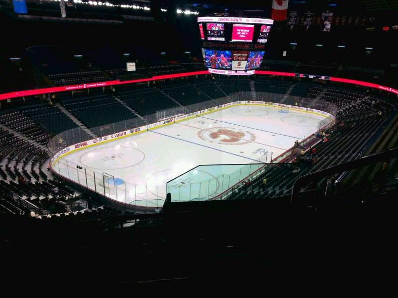 Seating view for Scotiabank Saddledome Section 208 Row 20 Seat 20