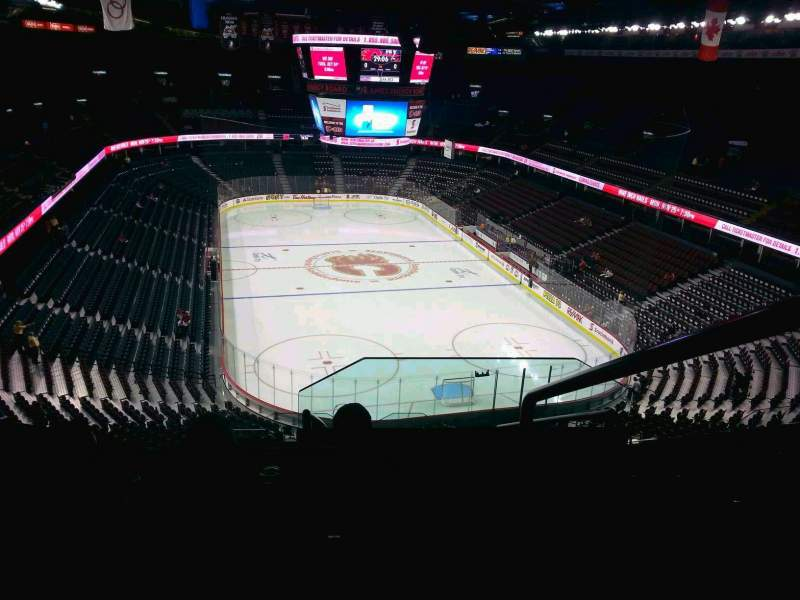 Seating view for Scotiabank Saddledome Section 205 Row 20 Seat 20