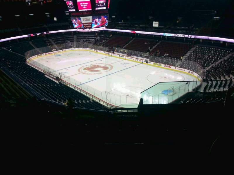 Seating view for Scotiabank Saddledome Section 203 Row 20 Seat 20