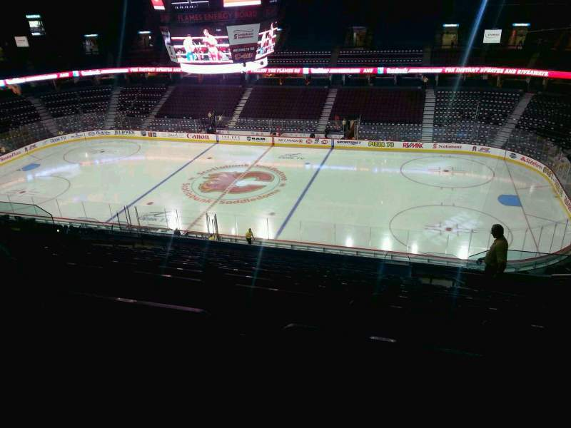 Seating view for Scotiabank Saddledome Section 227 Row 20 Seat 20