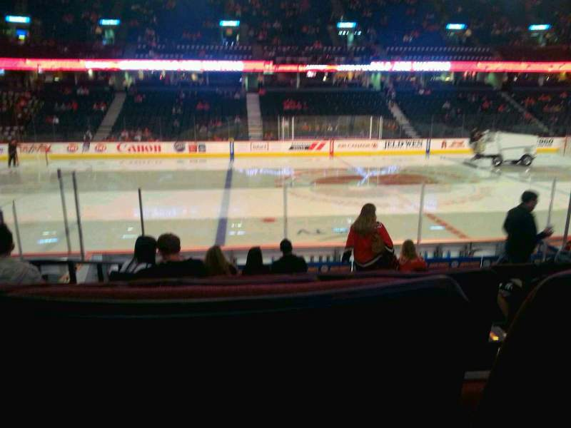 Seating view for Scotiabank Saddledome Section 109 Row 11 Seat 11