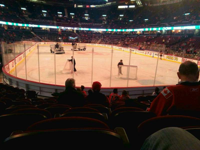 Seating view for Scotiabank Saddledome Section 103 Row 11 Seat 11