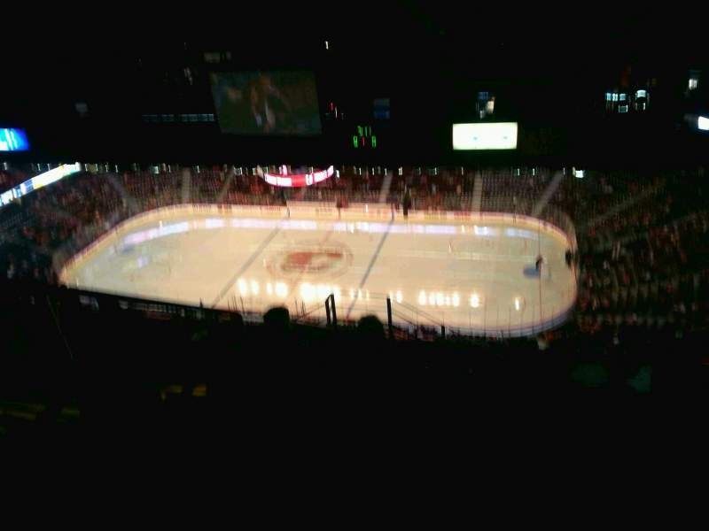 Seating view for Scotiabank Saddledome Section PL1 Row 13 Seat 4