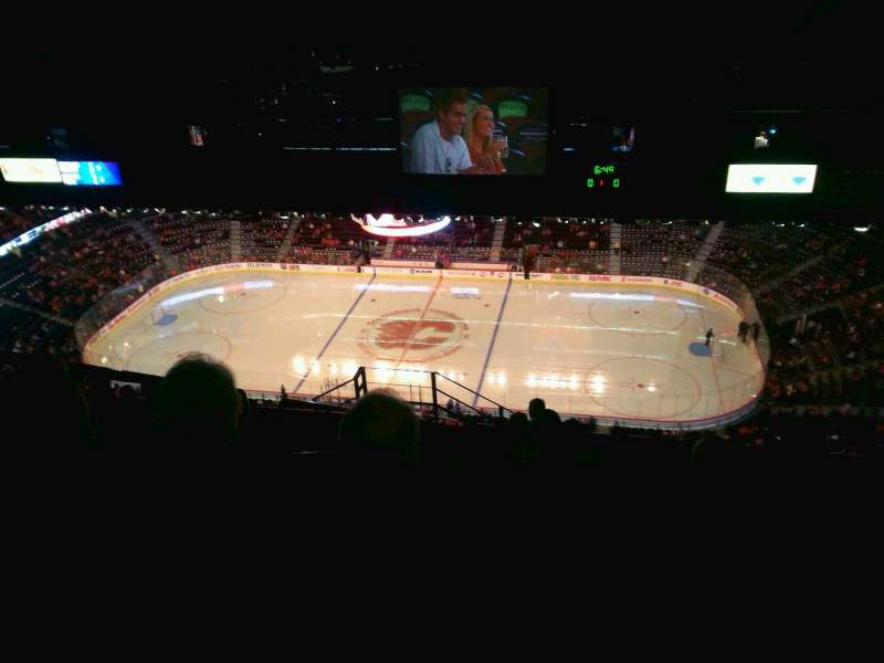 Seating view for Scotiabank Saddledome Section PL2 Row 13 Seat 4