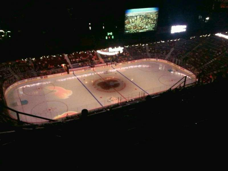 Seating view for Scotiabank Saddledome Section PL9 Row 13 Seat 4