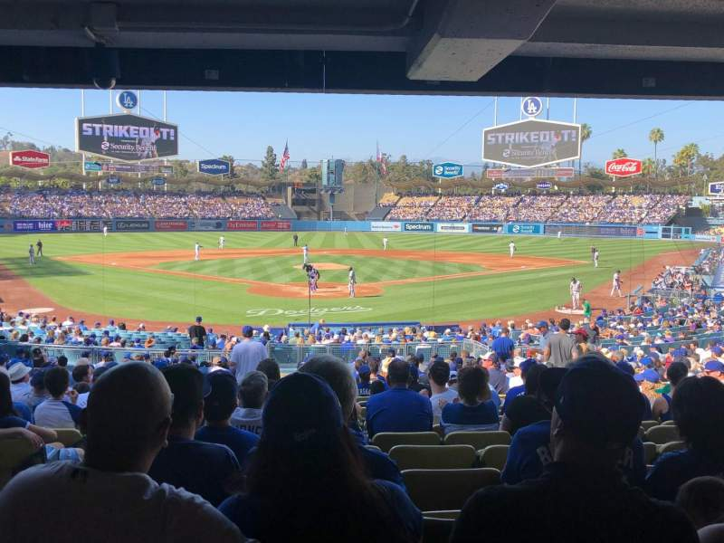 Seating view for Dodger Stadium Section 2DL Row DR Seat 2